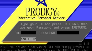 Prodigy Online Service Login Screen