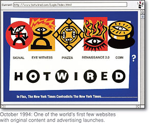 HotWired, as it appeared in 1994