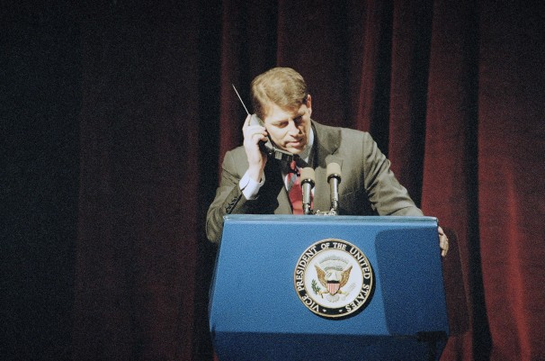 Al Gore On A Cellphone