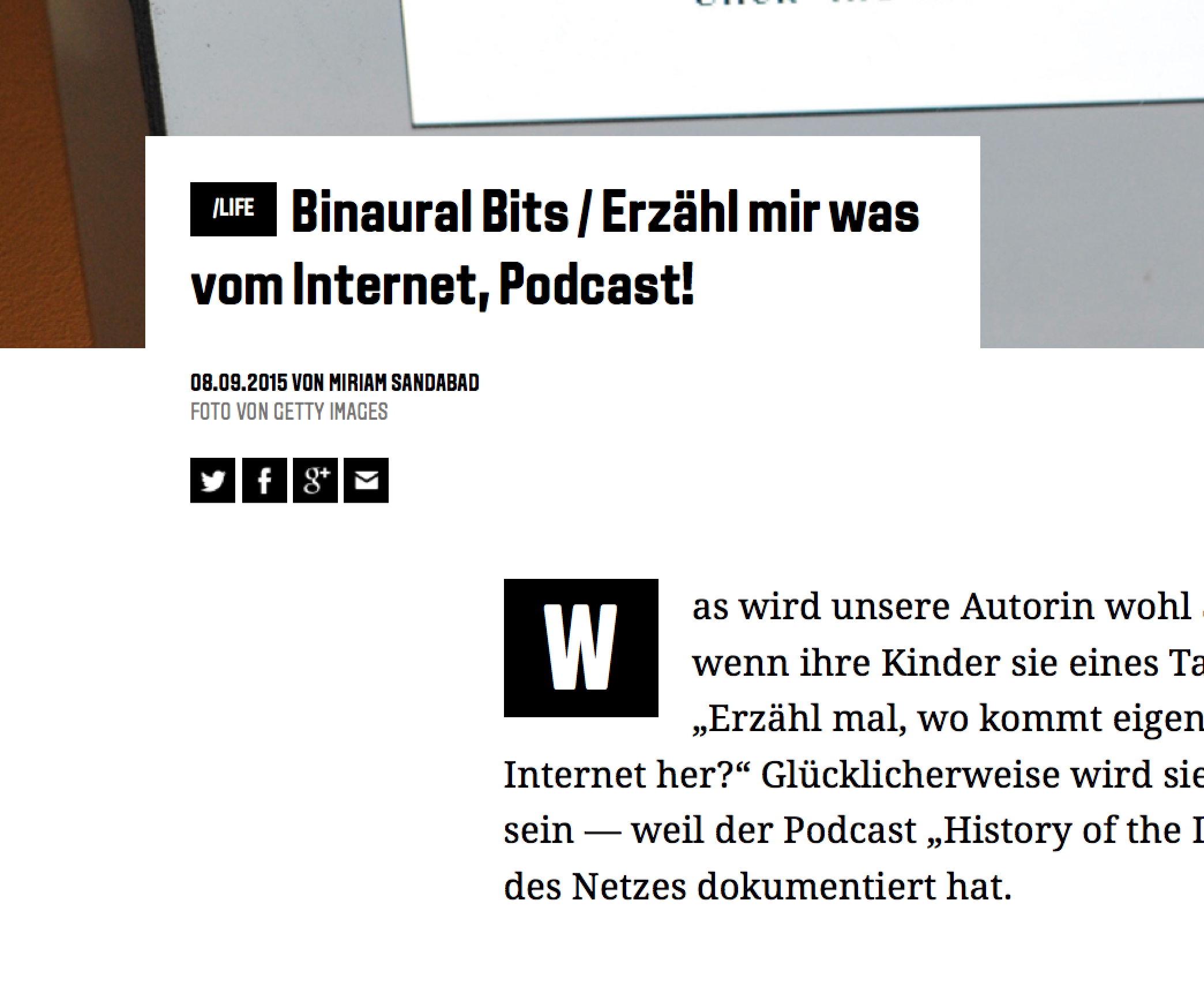 Podcast Featured in Wired Germany Today | Internet History Podcast