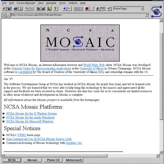 The Mosaic Internet Browser