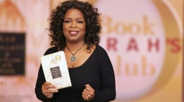 "A photo provided by Harpo Productions, Inc., shows talk-show host Oprah Winfrey holding her latest book club selection, Ken Follett's ""The Pillars of the Earth,"" during taping of the ""The Oprah Winfrey Show"" on Wednesday, Nov. 14, 2007, in Chicago. (AP Photo/Harpo Productions, Inc., George Burns) ** NO SALES"