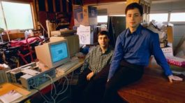 Early in Google's history picture of Larry Page and Sergey Brin